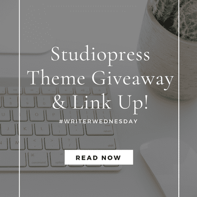 #WriterWednesday: Studiopress Theme Giveaway! (link up)